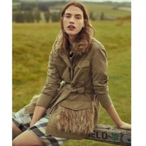 NWT ANTHROPOLOGIE FAUX FUR TRIMMED FIELD PARKA